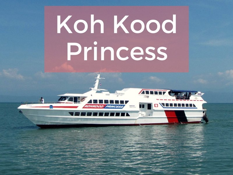 The Koh Kood Princess boat