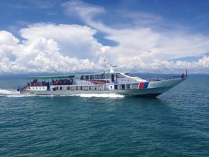 Koh Kut Express boat at sea