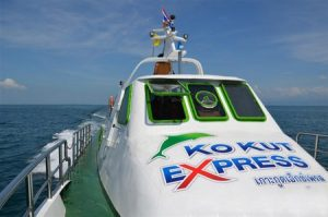 Captain's view of Koh Kut Express boat