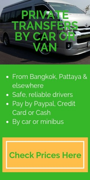 Private car and minibus service to Koh Mak and Koh Kood
