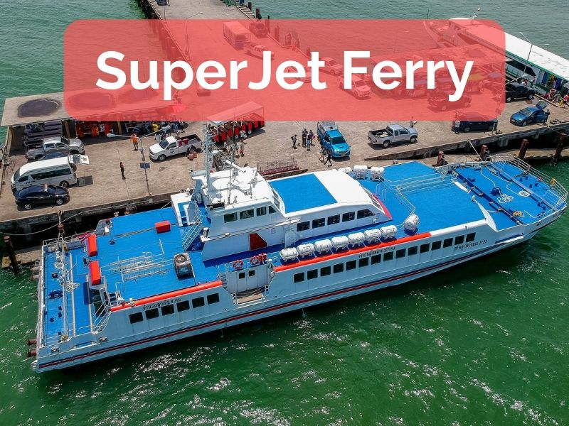 Superjet Ferry. Fast boat to Koh Kood
