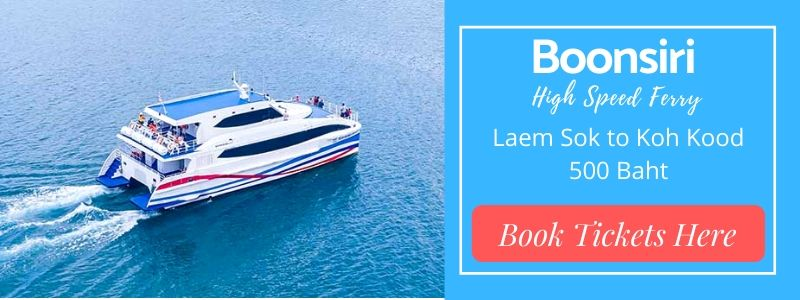 Koh Kood Ferry Guide. Book tickets for Boonsiri Ferry here